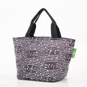 Eco Chic Black Music Lunch Bag - ჩანთა