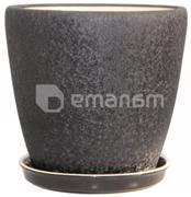 Oriana კერამიკული ქოთანი Oriana Gracia №1 აბრეშუმი შავი 24.5x25.2 სმ 10 ლ