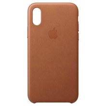 Apple Leather Case for iPhone XS Saddle Brown ქეისი