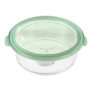 კონტეინერი შუშის/Glass Food Container Large-950ml(Green)