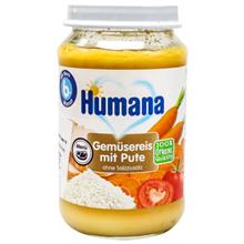 Humana პიურე ბოსტნეულით, ბრინჯით და ინდაურით 190 გრ