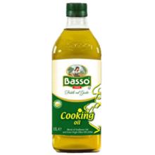 """Basso - ზეთი - """"მზესუმზირის ზეთი 80% + ექსტრა ვირჯინი 20%"""" 1000 მლ"""