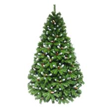 oHoHo ნაძვის ხე 180 სმ (გირჩებით და კენკრით, შერეულად დათოვლილი)