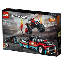 Lego Technic Stunt Show Truck & Bike ავტო-შოუ