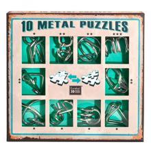 Eureka თავსატეხი 10 Metal Puzzles - Green Set