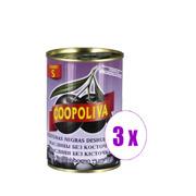 3 ქილა შავი ზეთისხილი უკურკო Coopoliva 850 გრ