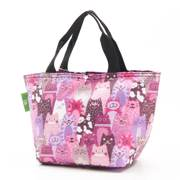 Eco Chic Purple Cats Lunch Bag - ჩანთა