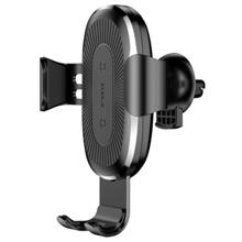 Baseus Wireless Charger Gravity Car Mount Black უსადენო დამტენი + სამაგრი