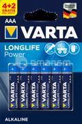 Varta ელემენტი Varta Longlife Power Alkaline AAA 4+2 ც
