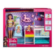 MATTEL Barbie საბავშვო ოთახში ორი  ბავშვით