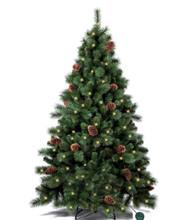 oHoHo ნაძვის ხე, 180სმ (დაბურული, გირჩებით და LED განათებით)
