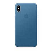 ქეისი iPhone XS Max Leather Case Cape Cod Blue