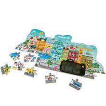 Hape სათამაშო პაზლი Animated City Puzzle