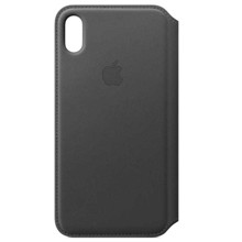 Apple Leather Folio for iPhone XS Max Black ქეისი