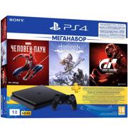 Sony PlayStation 4 Slim (1TB) Horizone Zero Down+Spider-Man+Gran Turismo Sport