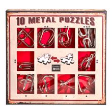 Eureka თავსატეხი 10 Metal Puzzles - Red Set