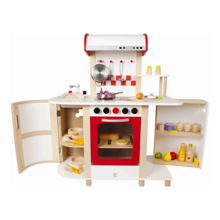 Hape ხის სათამაშო მრავალფუნქციური სამზარეულო Multi-Function Kitchen