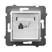 Ospel როზეტი ტელეფონის Ospel Aria GPT-1U/m/00 1 განყოფილებიანი თეთრი