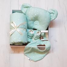 Baby Box სასაჩუქრე ნაკრები - მენთოლისფერი ყვითელი ვარსკვლავებით