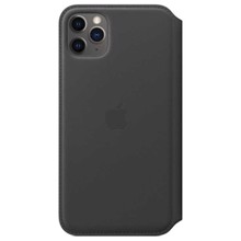 Apple Leather Folio for iPhone 11 Pro Max Black ქეისი