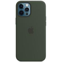 Apple iPhone 12 Pro Max Silicone Case with MagSafe Cypress Green მობილურის ქეისი