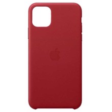 Apple Leather Case for iPhone 11 Pro Max (PRODUCT) RED ქეისი