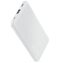 TRUST Primo Ultra-thin Powerbank 5.000 mAh White პორტატული დამტენი