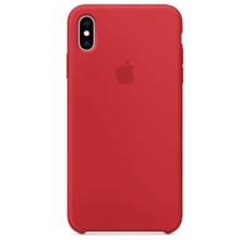 Apple Silicone Case for iPhone XS Max RED ქეისი