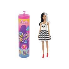 MATTEL Barbie  შექმენი შენი ბარბი 7 სიურპრიზით, ცხოველების პრინტიანი კაბით და სურნელოვანი პარიკით