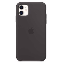 Apple Silicone Case for iPhone 11 Black ქეისი