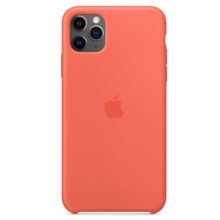 Apple Silicone Case for iPhone 11 Pro Max Clementine ქეისი