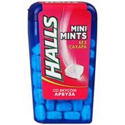 მეგაკო საღეჭი რეზინი HALLS Mini Mints საზამთროს არომატით