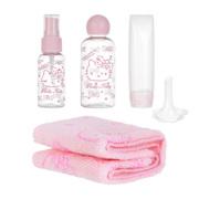 სამგზავრო ნაკრები (Hello Kitty)/Sanrio Hello Kitty Multipurpose Travel Box (With Facial Towel)