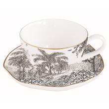 ჩაის ჭიქა ლამბაქით 120 მლ