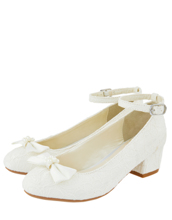Monsoon Children LARA SHIMMER LACE IVORY SHOE