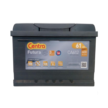 Centra აკუმულატორი Centra FUTURA-CARBON BOOST CA612 61 A/h DIN