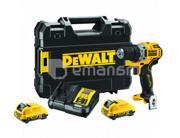 Dewalt აკუმულატორის დრელი-სჭვალსახრახნი უნახშირო DeWalt DCD701D2-QW 12V