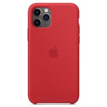 Apple Silicone Case for iPhone 11 Pro RED ქეისი