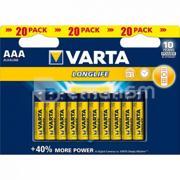 Varta ელემენტი VARTA Alkaline AAA LL 1.5 V 20 ც