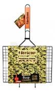 BoyScout ცხაურა-გრილი 6 პორციისთვის მიმწვრობის საწინააღმდეგო საფარით BoyScout 62(+5)x40x30x2.5 სმ