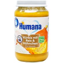 Humana პიურე გოგრით, ბრინჯით და ქათმით 190 გრ
