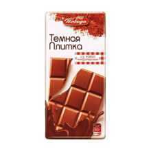 Победа შავი შოკოლადის ფილა 90 გრ