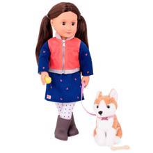 OUR GENERATION Doll Leslie თოჯინა ძაღლით