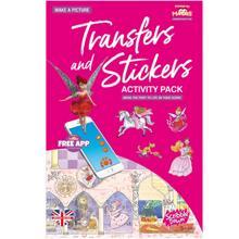 Scribble down ფურცელზე გადამყვანი სტიკერები Transfer and Stickers Princess Fairy Tale