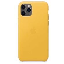 Apple Leather Case for iPhone 11 Pro Meyer Lemon ქეისი