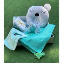 Handicraft Baby Box სასაჩუქრე ნაკრები - მენთოლისფერი ზოლებიანი