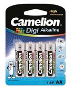 Camelion  ელემენტი Camelion LR6-BP4DG Digi Alkaline AA 4 ც