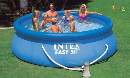 INTEX-ის გასაბერი აუზი ბასეინი  3,66 x 76 ფილტრით auzi baseini