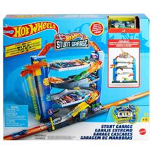 Mattel Hot Wheels სათამაშო ტრასა ავტოსადგომით