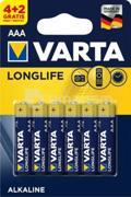 ელემენტი Varta Longlife Alkaline AAA 4+2 ც